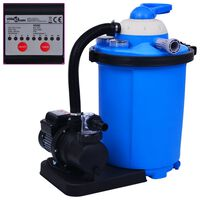 vidaXL baseina sūknis ar smilšu filtru un taimeri, 550 W, 50 L