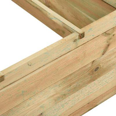 vidaXL dārza stādu kaste, 120x120x40 cm, impregnēts priedes koks