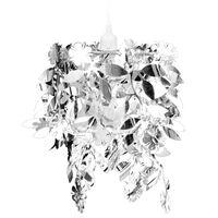 Lustra ar lapu dekoriem 21,5 x 30 cm sudraba
