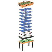 vidaXL spēļu galds, 15 spēles, 121x61x82 cm, kļava
