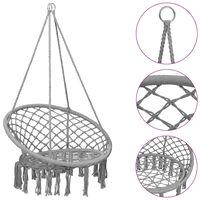 vidaXL piekarams šūpuļkrēsls, 80 cm, pelēks