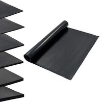 vidaXL grīdas paklājs, neslīdoša gumija, 1,2x5 m, 3 mm, gluds