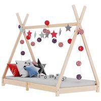 vidaXL bērnu gultas rāmis, 80x160 cm, priedes masīvkoks