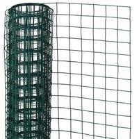 Nature sieta žogs, kvadrāta, 1x5 m, 13 mm, tērauds ar plastmasu, zaļš