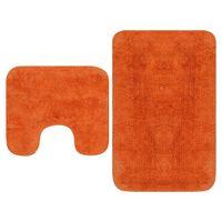 vidaXL vannasistabas paklāji, 2 gab., oranžs audums