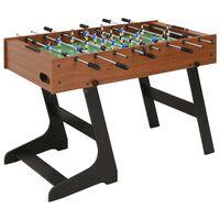 vidaXL futbola galds, salokāms, 121x61x80 cm, brūns