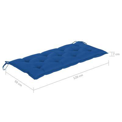 vidaXL divvietīgs dārza sols ar matraci, 120 cm, eikalipta masīvkoks