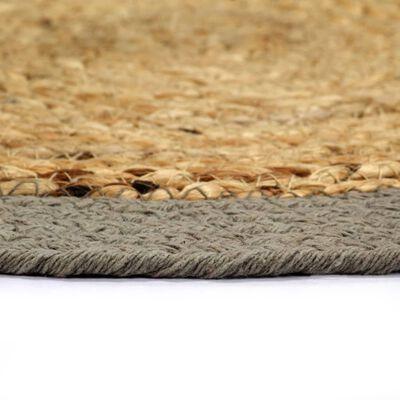 vidaXL galda paliktņi, 4 gab., pelēka, dabīga krāsa, 38 cm, kokvilna
