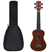"""vidaXL soprāna bērnu ukulele ar somu, tumša koka krāsā, 23"""""""