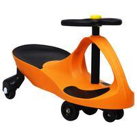 vidaXL bērnu braucamrīks ar tauri, oranžs