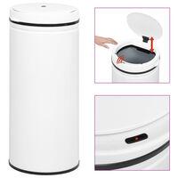 vidaXL automātiska atkritumu tvertne ar sensoru, oglekļa tērauds, 80 L