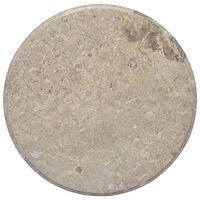 vidaXL galda virsma, Ø60x2,5 cm, pelēks marmors