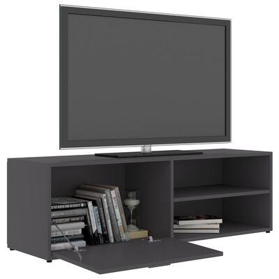 vidaXL TV skapītis, pelēks, 120x34x37 cm, skaidu plāksne