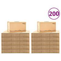 vidaXL pārvākšanās kastes, 200 gab., kartons, XXL, 60x33x34 cm