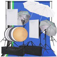 vidaXL fotostudijas apgaismojuma komplekts