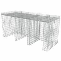 vidaXL gabions atkritumu tvertnēm, cinkots tērauds, 270x100x130 cm
