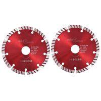vidaXL dimanta griešanas diski, 2 gab., ar turbo, tērauds, 125 mm