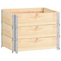 vidaXL puķu kastes, 3 gab., 60x80 cm, priedes masīvkoks