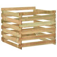 vidaXL dārza komposta kaste, 100x100x80 cm, impregnēts priedes koks