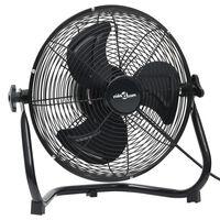 vidaXL grīdas ventilators ar 3 ātrumiem, 60 cm, 120 W, melns