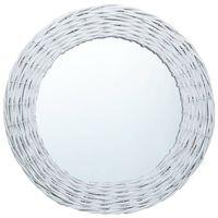 vidaXL spogulis, 50 cm, balts, pīts