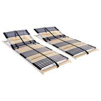vidaXL gultas redeles, 2 gab., ar 42 līstītēm, 7 zonas, 90x200 cm