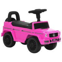 vidaXL stumjams rotaļu auto, Mercedes-Benz G63, rozā