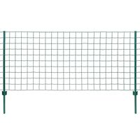 vidaXL Euro stiepļu žogs, tērauds, 20x1,5 m, zaļš