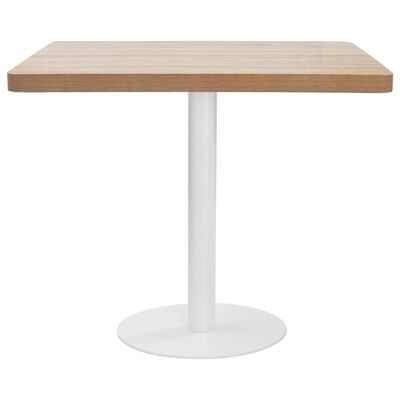 vidaXL bistro galds, gaiši brūns, 80x80 cm, MDF