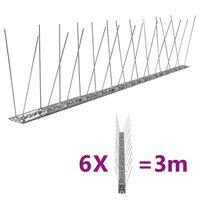 vidaXL putnu atbaidīšanas radzes, 2 rindas, 6 gab., 3 m, tērauds