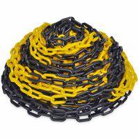 Norobežojošā plastmasas ķēde, dzeltena ar melnu, 30m