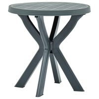 vidaXL bistro galds, zaļš, Ø70 cm, plastmasa