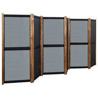 vidaXL 6-paneļu istabas aizslietnis, melns, 420x170 cm