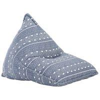 vidaXL sēžammaiss, zils un balts audums, tekstilmozaīka