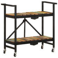 vidaXL virtuves ratiņi, 87x36x81 cm, pārstrādāts masīvkoks