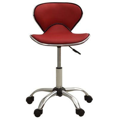 vidaXL salona krēsls, vīnsarkana mākslīgā āda