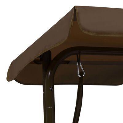 vidaXL bērnu šūpuļdīvāns, brūns, 115x75x110 cm, audums