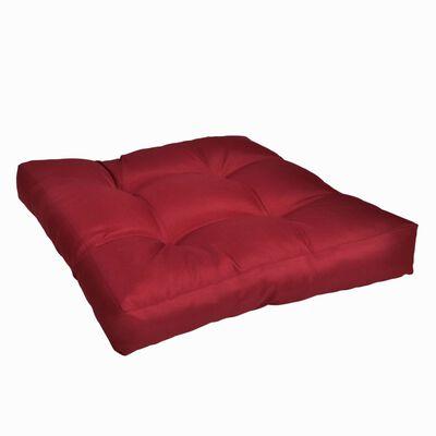 Polsterēts sēdvietas spilvens, 50x50x10 cm, vīna sarkans