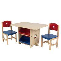 KidKraft galds ar 2 krēsliem, zvaigznīšu dizains