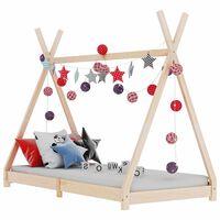 vidaXL bērnu gultas rāmis, priedes masīvkoks, 90x200 cm