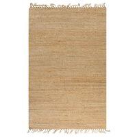 vidaXL paklājs, izgatavots ar rokām, džuta, 120x180 cm, dabīga krāsa