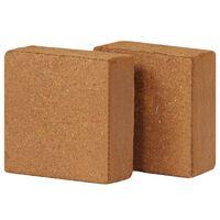 vidaXL kokosa šķiedras bloki, 2 gab., 5 kg, 30x30x10 cm