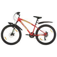 vidaXL kalnu velosipēds, 21 ātrums, 26'', 36 cm, sarkans