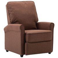 vidaXL TV krēsls, atgāžams, brūns audums