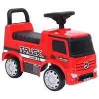 vidaXL stumjams rotaļu auto, Mercedes-Benz Truck, sarkans