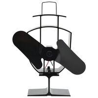 vidaXL karstuma izplūdes ventilators, 2 lāpstiņas, melns
