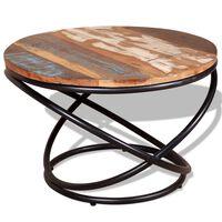 vidaXL kafijas galdiņš, 60x60x40 cm, pārstrādāts koks