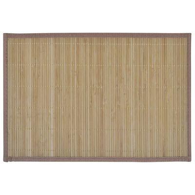 Galda paliktņi, 6 gab., 30 x 45 cm, brūns bambuss