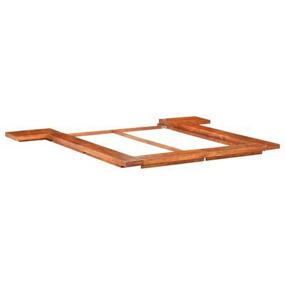 vidaXL gultas rāmis, japāņu stils, akācijas masīvkoks, 140x200 cm
