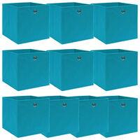 vidaXL uzglabāšanas kastes, 10 gab., 32x32x32 cm, zilgans audums